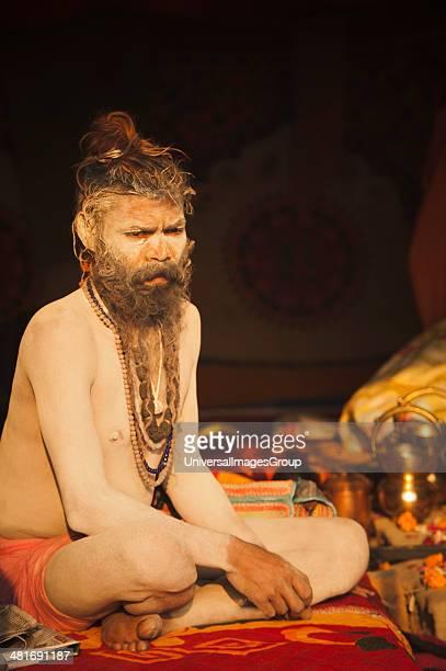 Sadhu at Maha Kumbh Allahabad Uttar Pradesh India