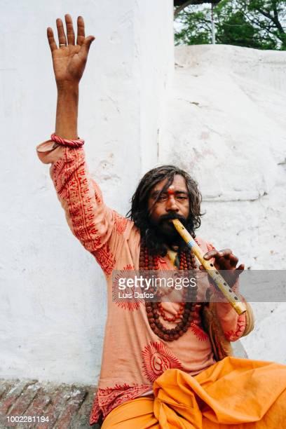 sadhu at pashupatinath - dafos stock photos and pictures