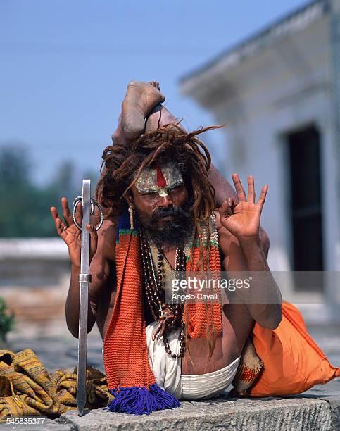 Sadhu Exercising