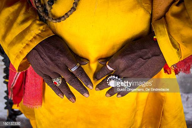 Sadhu hands with rings