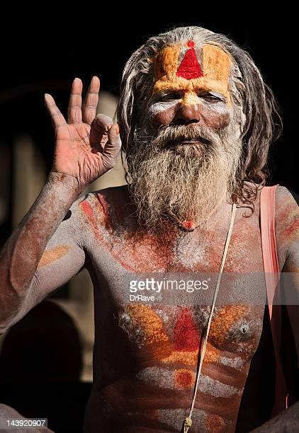 Sadhu - holy man ash covered