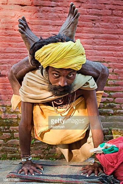 Sadhu - holy man practicing yoga