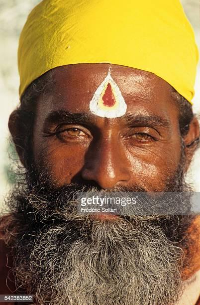 Sadhu in the holy city of Rameswaram