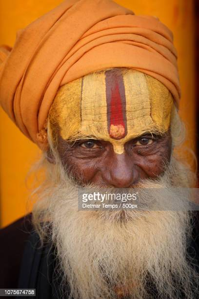 sadhu in varanasi, uttar pradesh, india - dietmar temps stock photos and pictures