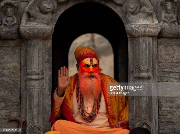 Sadhu offers blessings during the festival at Pasupatinath Temple in Kathmandu Maha Shivaratri is a Hindu festival celebrated annually in honor of...