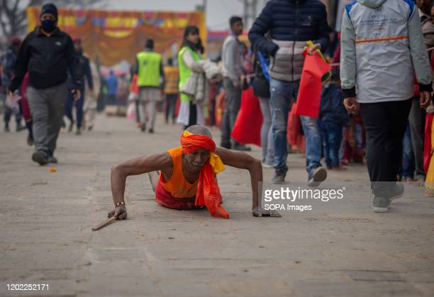 Sadhu offers prayers during the festival at Pasupatinath Temple in Kathmandu. Maha Shivaratri is a Hindu festival celebrated annually in honor of...