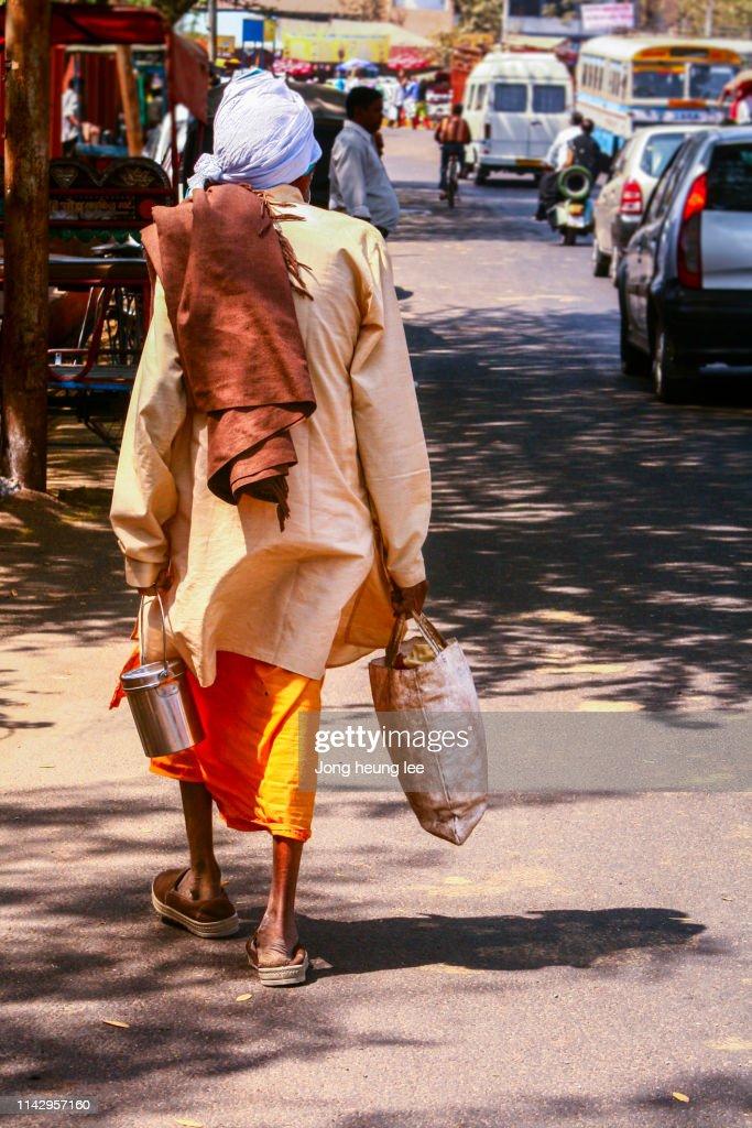 Sadhu on the Road : Stock Photo