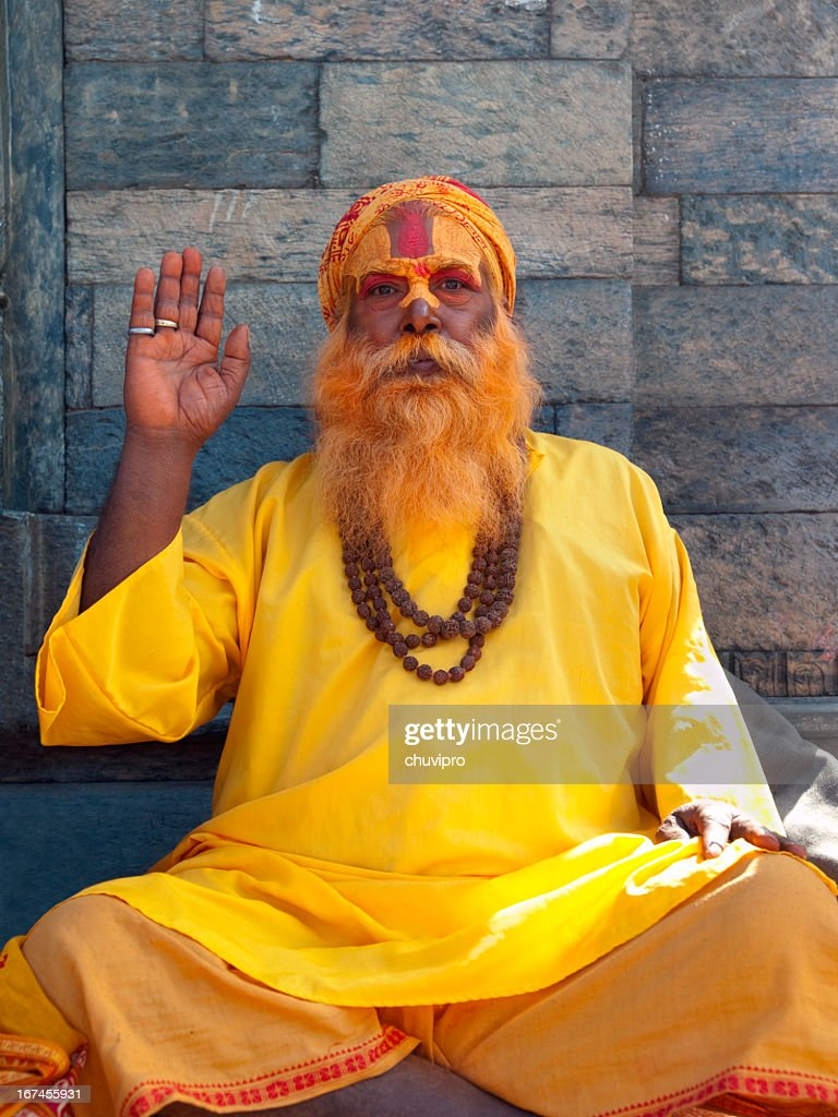 Sadhu. : Stock Photo