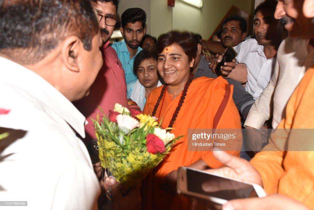 IND: Sadhvi Pragya Singh Thakur Joins BJP