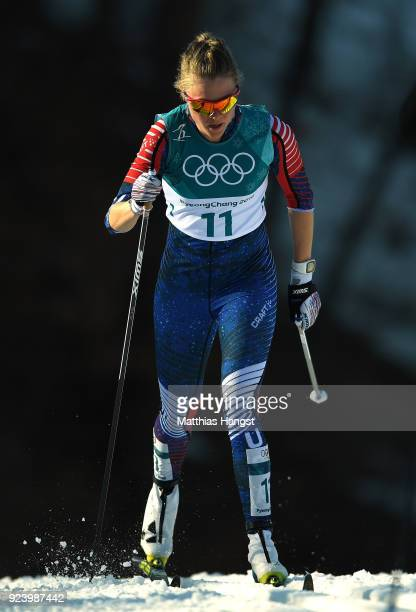 Sadie Bjornsen of the United States competes during the Ladies' 30km Mass Start Classic on day sixteen of the PyeongChang 2018 Winter Olympic Games...