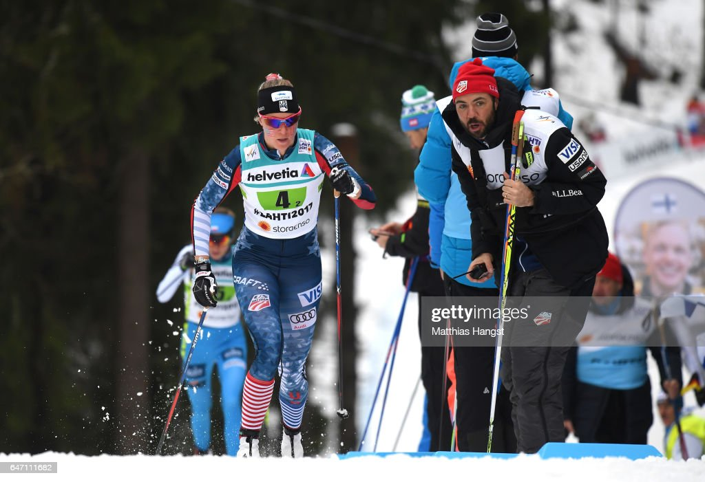 Sadie Bjornsen of the United States competes during the Women's Cross Country 4x5km Relay at the FIS Nordic World Ski Championships on March 2, 2017 in Lahti, Finland.
