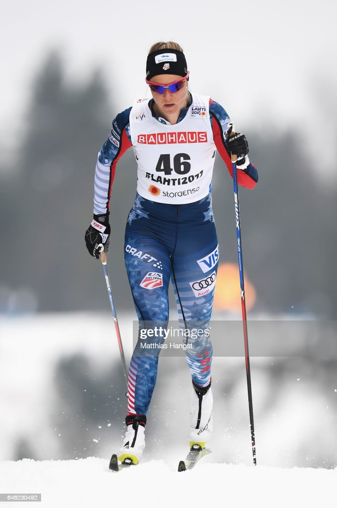 Sadie Bjornsen of the United States competes in the Women's 10km Cross Country during the FIS Nordic World Ski Championships on February 28, 2017 in Lahti, Finland.