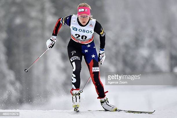 Sadie Bjornsen of the USA competes during the FIS CrossCountry World Cup Men's and Women's Sprint on December 05 2014 in Lillehammer Norway