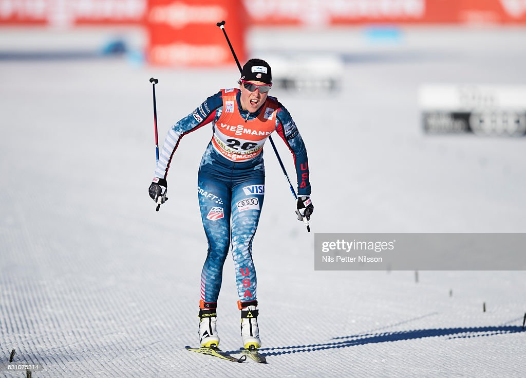 Sadie Bjornsen of USA competes during the women's 5K F race on January 6, 2017 in Toblach Hochpustertal, Italy.