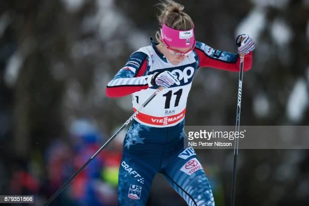 Sadie Bjornsen USA during the ladies cross country 10K pursuit competition at FIS World Cup Ruka Nordic season opening at Ruka Stadium on November 26...