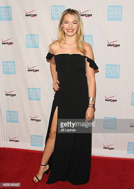 Sadie Calvano attends the Peace Over Violence 44th annual Humanitarian Awards held at the Dorothy Chandler Pavilion on October 16 2015 in Los Angeles...