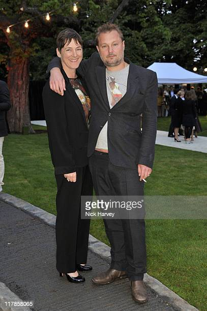 Sadie Coles and Juergen Teller attend the Serpentine summer party at The Serpentine Gallery on June 28 2011 in London England