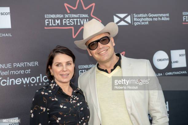Sadie Frost and Billy Zane attend a photocall for the World Premiere of 'Lucid' during the 72nd Edinburgh International Film Festival at Cineworld on...
