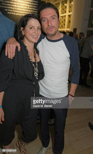 Sadie Frost and Darren Strowger attend adidas 'Prouder' A Fat Tony Project in aid of the Albert Kennedy Trust supporting LGBT youth at Heni Gallery...