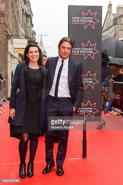 Sadie Frost and Darren Strowger attend the screening of Tommy's Honour and opening gala of the Edinburgh International Film Festival at Edinburgh...