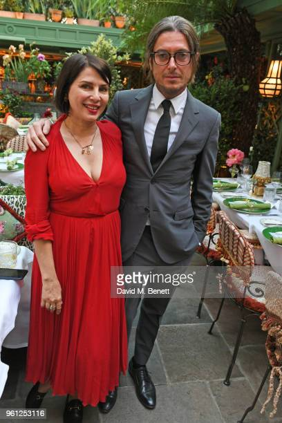 Sadie Frost and Darren Strowger attends the Annabel's x Dior dinner on May 21 2018 in London England