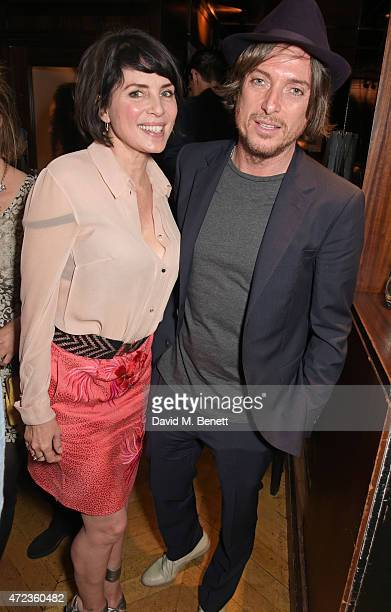Sadie Frost and Darren Strowger attends the Hepatitis C Trust charity party hosted by Sadie Frost at The Groucho Club on May 6 2015 in London England
