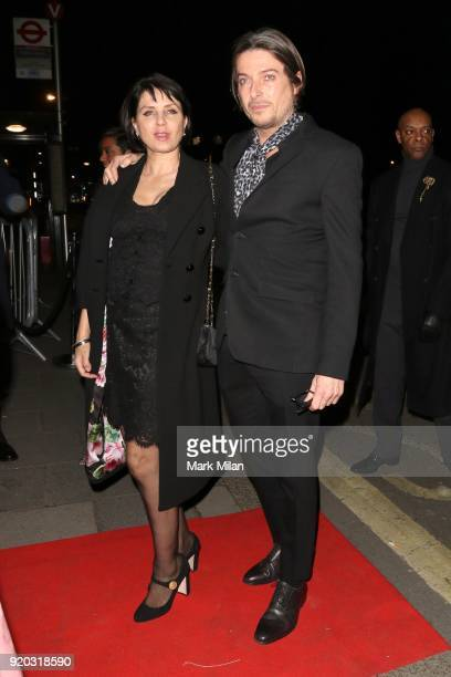 Sadie Frost and Darren Strowger seen at the Vogue and Tiffany Co party at Annabel's club after attending the EE British Academy Film Awards at the...