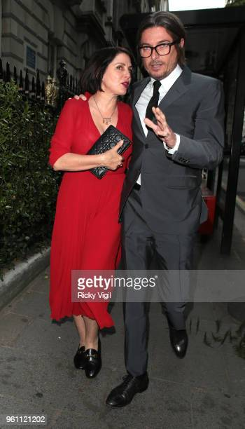 Sadie Frost and Darren Strowger seen attending Annabel's x Dior dinner to celebrate the RHS Chelsea Flower Show on May 21 2018 in London England