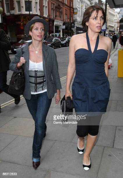 Sadie Frost and friend attend Simon Aboud book launch party at the St Martins Lane Hotel on June 8 2009 in London England