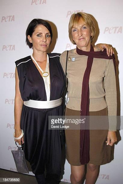 Sadie Frost and Ingrid Newkirk during PETA's Humanitarian Awards Inside at 30 Bruton Street in London Great Britain