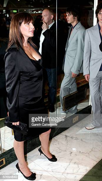 Sadie Frost and Jackson Scott attend the UK FiFi Awards at The Dorchester on April 25 2005 in London England The awards mirror the International Fifi...