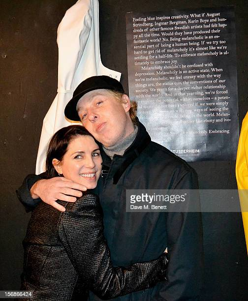 Sadie Frost and James Brown attend the launch of the Stutterheim Raincoats pop up shop in Shoreditch on November 22 2012 in London England