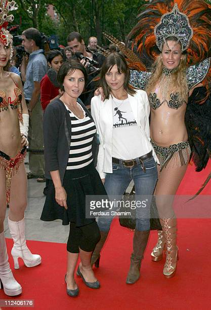 Sadie Frost and Jemima French during Brasil Brasileiro London Premiere at Sadler's Wells Theatre in London Great Britain
