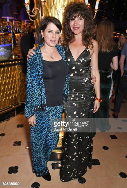 Sadie Frost and Jess Morris attend the Rockins party to celebrate the Rockins Selfridges PopUp Shop at Park Chinois supported by Ciroc on July 4 2017...