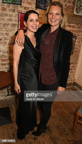 Sadie Frost and Kate Moss attend the press night for 'Britten in Brooklyn' on September 1 2016 in London England