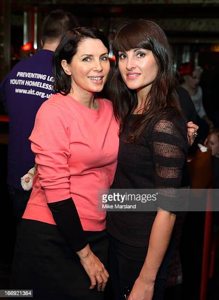 Sadie Frost and Lucie Bar‰t attend the 'Little Episodes' book launch at Madame Jojo's on April 18 2013 in London England