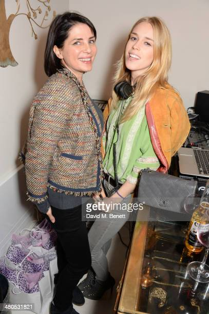 Sadie Frost and Mary Charteris attend the Lark London boutique launch party on March 25 2014 in London England