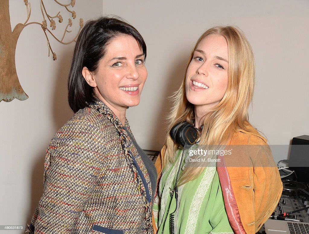 Sadie Frost (L) and Mary Charteris attend the Lark London boutique launch party on March 25, 2014 in London, England.