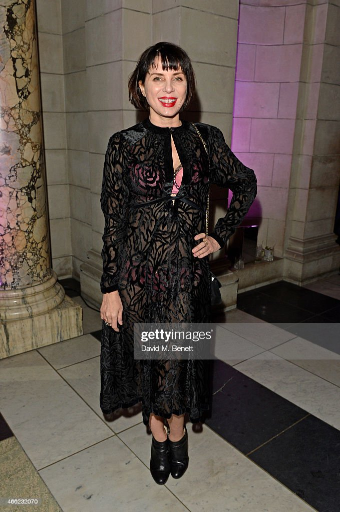 Sadie Frost arrives at the Alexander McQueen: Savage Beauty VIP private view at the Victoria and Albert Museum on March 14, 2015 in London, England.