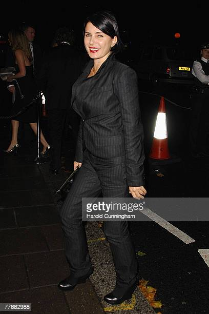 Sadie Frost arrives at the launch of Kate Moss's new Top Shop 'Christmas Range' collection at Annabel's October 16, 2007 in London, England.