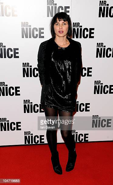 Sadie Frost arrives at the UK film premiere of 'Mr Nice' at the Cineworld Cinemas Haymarket on October 4 2010 in London England