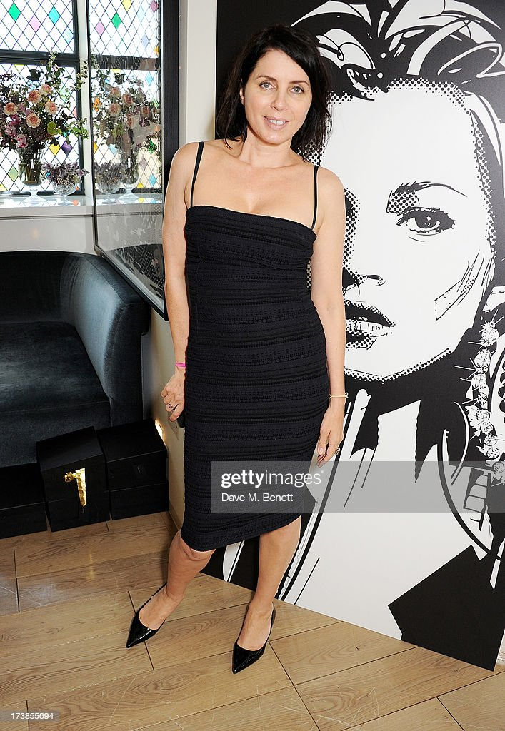 Sadie Frost attends a first look at a new range of tech accessories for Carphone Warehouse, designed exclusively by Kate Moss for the high street brand, at The Club at The Ivy on July 18, 2013 in London England. The range of smartphone and tablet accessories goes on sale nationwide later this month.