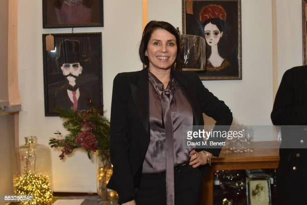 Sadie Frost attends a private view of artist Rebecca Leigh's exhibition hosted by Sadie Frost at Tann Rokka on November 30 2017 in London England