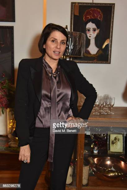 Sadie Frost attends a private view of artist Rebecca Leigh's exhibition hosted by Sadie Frost at Tann Rokka on November 30, 2017 in London, England.