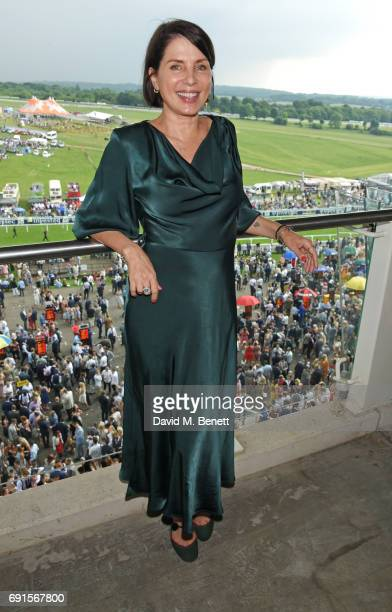 Sadie Frost attends Ladies Day of the 2017 Investec Derby Festival at The Jockey Club's Epsom Downs Racecourse at Epsom Racecourse on June 2, 2017 in...