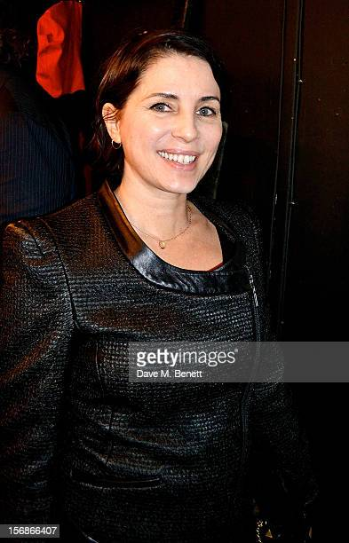 Sadie Frost attends the launch of the Stutterheim Raincoats pop up shop in Shoreditch on November 22 2012 in London England
