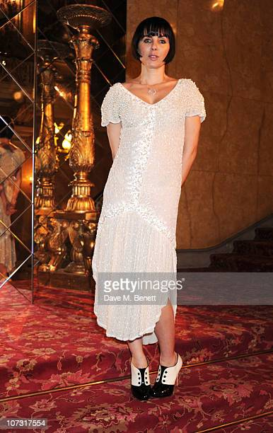 Sadie Frost attends the Miu Miu store launch dinner to celebrate the opening of the new Miu Miu boutique on Bond Street at Lancaster House on...