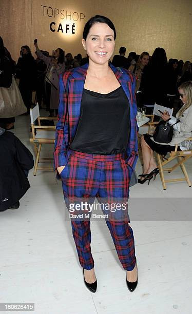 Sadie Frost attends the Unique SS14 show during London Fashion Week on September 15 2013 in London England