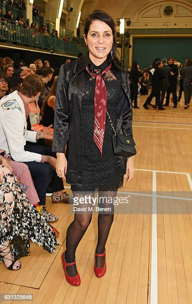 Sadie Frost attends the Vivienne Westwood show during London Fashion Week Men's January 2017 collections at Seymour Leisure Centre on January 9 2017...