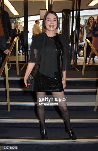 """Sadie Frost attends the World Premiere of """"Quant"""" during the 65th London Film Festival at The Curzon Mayfair on October 9, 2021 in London, England."""